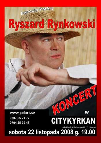 Koncert Ryszarda Rynkowskiego Sztokholm
