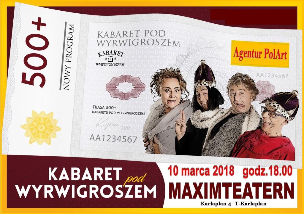 Kabaret pod Wyrwigroszem ulotka 1 str
