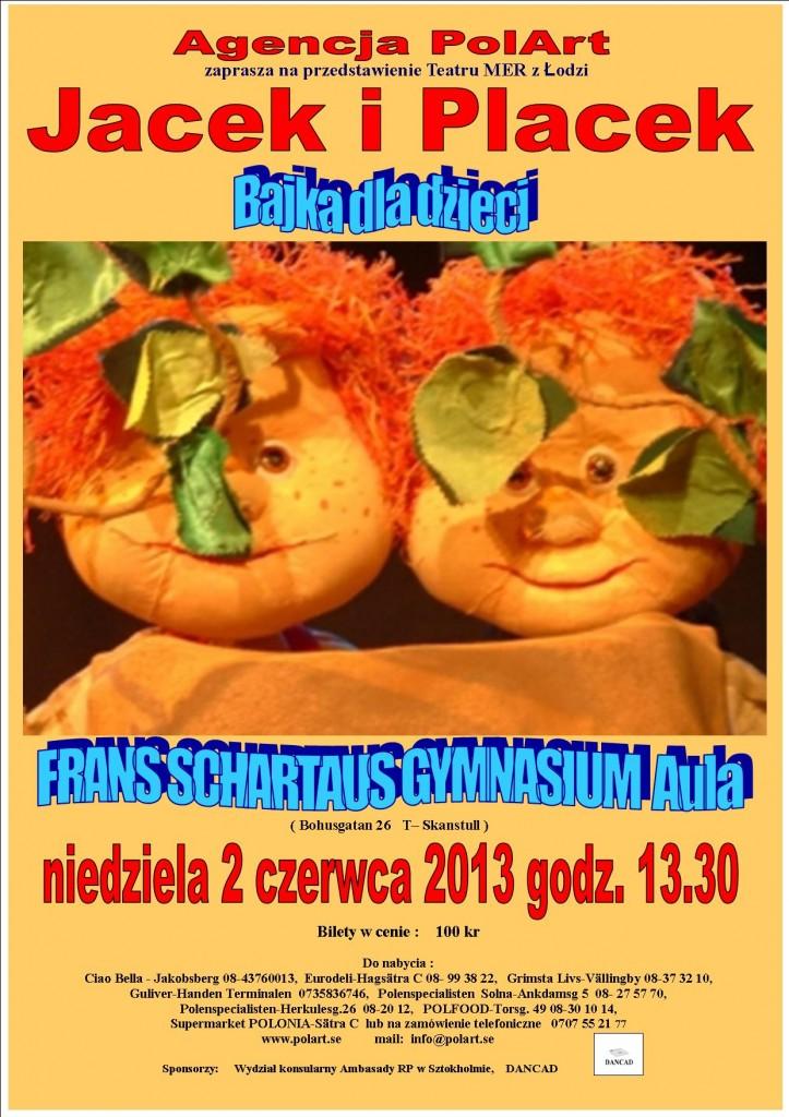 plakat Jacek i Placek